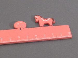 Lineal mit Pferd in rosa