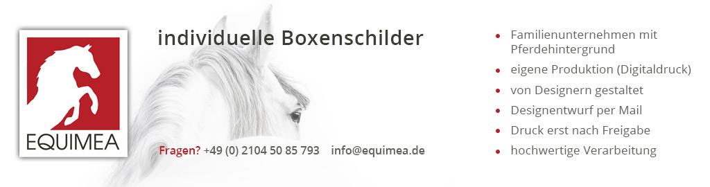 Equimea Boxenschilder & Stallausstattung
