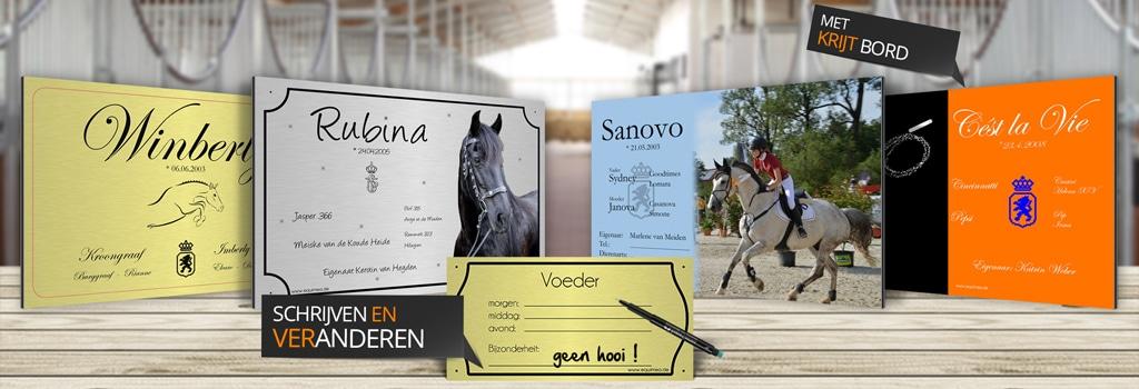 individuele boxplaatjes voor paarden